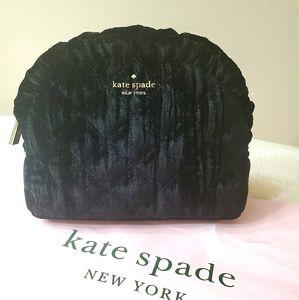 Kate Spade velvet makeup purse